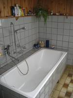Das geräumige Bad